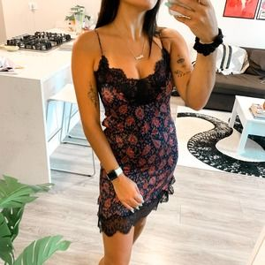 Zara Floral Lace Mini Bodycon Dress